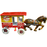 Marx Toytown Dairy Tin Wind Up Toy