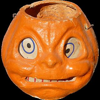 Halloween Paper Mache Pumpkin Lantern