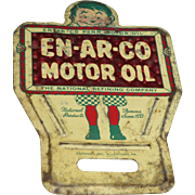 Enarco Motor Oil Advertising License Plate Topper Reflector