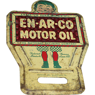 Enarco Motor Oil Advertising License Plate Topper Reflector