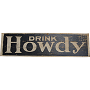 Drink Howdy Cola Advertising Sign