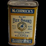 McCormick's Bee Brand Allspice Tin