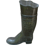 Figural Boot Match Safe - Hood Rubber Co. Advertising Premium