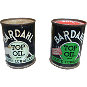 Bardahl Oil Cans