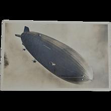 1937 RPPC Hindenburg Zeppelin