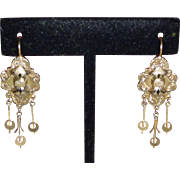 12K Gold Antique Earrings