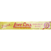 Lime Cola Advertising Strip Sign