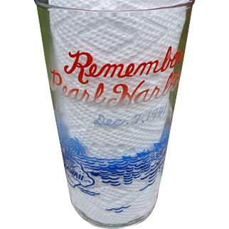 Remember Pearl Harbor Glass