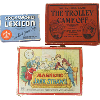 Early Children's Games - Milton Bradley And Parker Brothers
