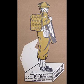WWI Doughboy Punch Card Trade Stimulator