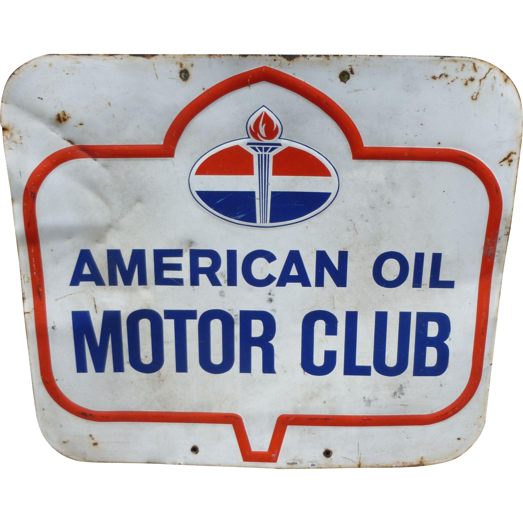 American Oil Motor Club Advertising Sign From