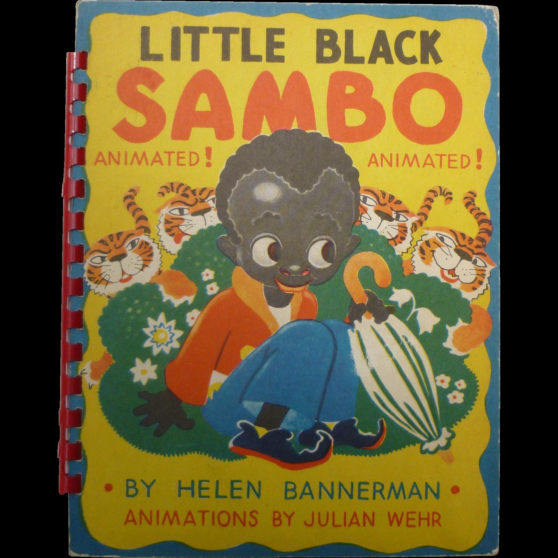 Julian Wehr Animated Little Black Sambo Children's Book
