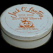 Vintage Halloween Candy Tin