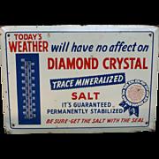 Diamond Crystal Salt Advertising Thermometer Sign