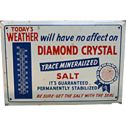 Diamond Crystal Salt Advertising Thermometer Sign