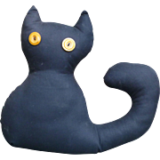 Stuffed Black Cat - Great For Halloween!
