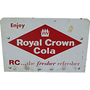 Royal Crown RC Cola Rack Top Advertising Sign