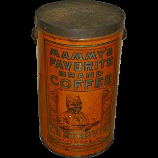 Mammy's Favorite Brand Coffee 4LB Tin Can Pail