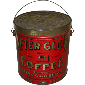 4 LB After Glow Coffee Tin Can Pail