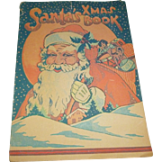 Early Santa's XMas Book Advertising Premium Activity Book