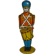 """Wolverine Wind Up 13"""" Drumming Soldier Tin Lithographed Toy"""