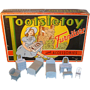 Tootsietoy Dollhouse Furniture W/Original Box
