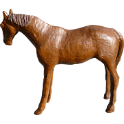 Folk Art Carved Wooden Horse