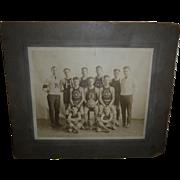 Early Original Basketball Photograph Olivet City Champs 1921-1922