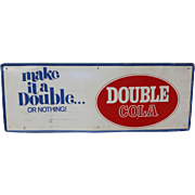 Tin Advertising Double Cola Sign
