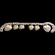 U S Navy WWII  Sweetheart Heart Bracelet