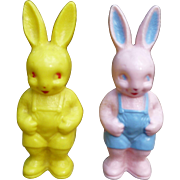 Easter Rabbit Rattles Pink And Yellow Bunny Rattle