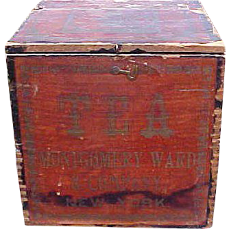 Final Reduction Will Be Removed 7/25 Fabulous Early Dovetailed Montgomery Ward Tea Box