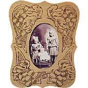 Vintage Flemish Art Co. Pyrography Picture Frame