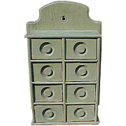 Primitive Spice Apothecary Cabinet In Sage Green Paint