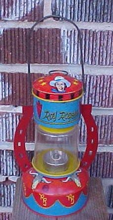 Ohio Art Roy Rogers Tin Litho Barn Lantern