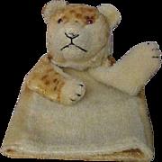Steiff Mohair Lion Cub Hand Puppet