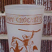 Neat Vintage Davy Crockett Glass With Farm Bureau Advertising