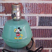Final Reduction Will Be Removed 7/25 30's Soreng Manegold Mickey Mouse Tin Lamp
