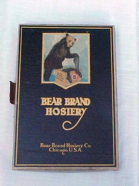Bear Brand Hosiery Store Box With Black Silk Hose