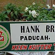 Keen Kutter Tools Advertising Sign