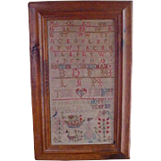 Antique ABC Sampler Wonderful Graphics