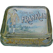 Flor De Franklin Cigars Glass Advertising Change Tray