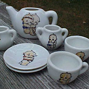 Kewpie China Child's Tea Set Made In Japan