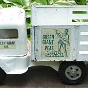 Tonka Green Giant Pressed Steel Stake Truck Toy