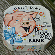 Daily Dime Register Piggy Bank
