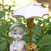 De Vilbiss Little Girl With Umbrella Figurine Perfume