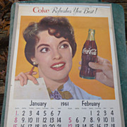 1961 Coca Cola Calendar