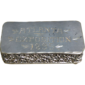 1895 Cotton States Exposition Trinket Box