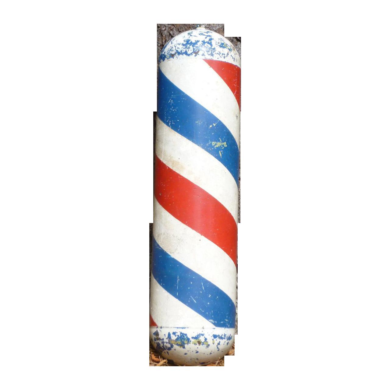 Unique Metal Barber Pole Amazing Americana Ruby Lane