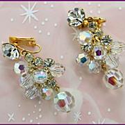 Juliana Crystal Aurora Borealis Dangle Earrings